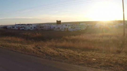 Abandoned caravans