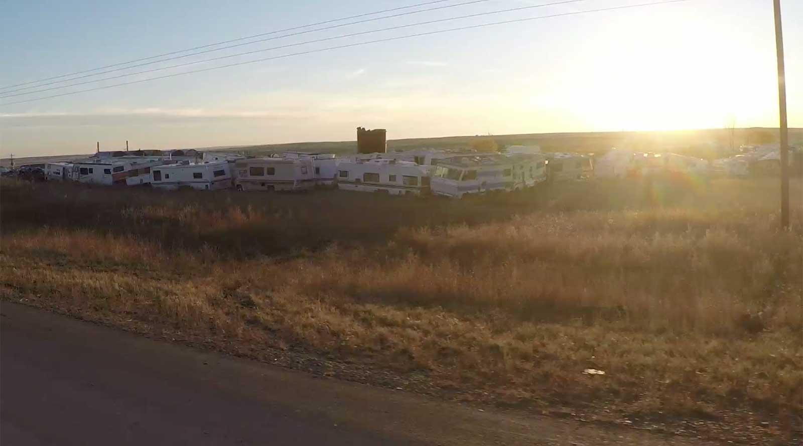 Caravanes abandonnées